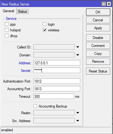 New Radius Server